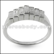 Jeweled Fashion Silver Finger Ring Body Jewelry