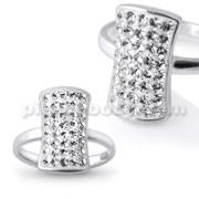 Cool Style White Rhinestone Finger Ring