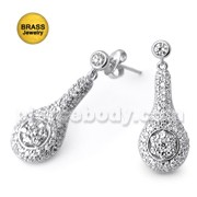 Micro Setting Jeweled Fancy Earring