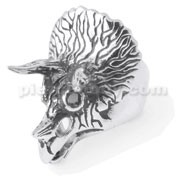 Stainless Steel Pentaceratops Finger Ring