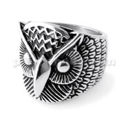Owl Face finger ring