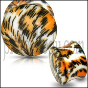 UV Double Flared Cheetah Ear Plug