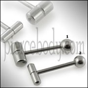 Steel Capsule Tongue Barbell
