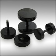 Blackline Steel Fake Ear Plug