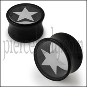 Double Flared Star Logo Ear Plug