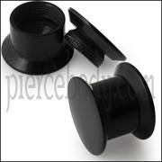 UV black Screw Fit Flesh Tunnel