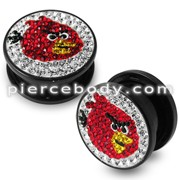 Angry Bird Crystal stone Flesh Tunnel