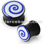 Double Flared Swril Logo Ear Plug