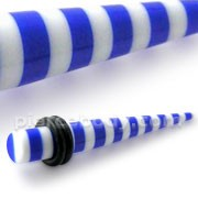 Blue Stripe Straight Ear Expander