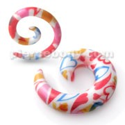 Spiral Hand Painted Cool Ear Expander