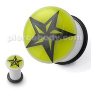 Tribal Star Ear Plug