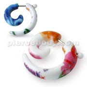 Spiral Fake Ear Plug In UV And SS