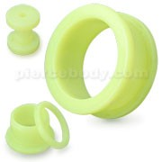 Light Green Neon Colored Screw Fit Ear Flesh Tunnel