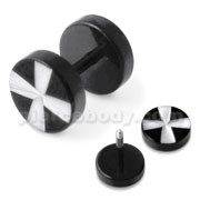 Irish Cross Laser Cut Fake Ear Plug