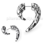 Marble Spiral Claw Fake Ear Plug