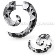 Python Pattern Spiral Fake Ear Plug