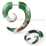 Army Pattern Spiral Fake Ear Plug