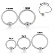 Surgical Steel Flexible BCR Piercing Jewelry