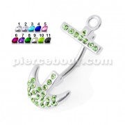 Anchor with the Hook Spinal navel jewelry