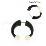 Organic Horn Fake 5 mm Horseshoe with Bone Ball