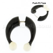 Organic Horn Fake 8 mm Horseshoe with Bone Ball