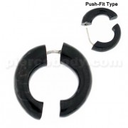 Organic Horn Fake 5 mm Horseshoe Ear Plug Piercing