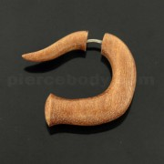 Saba Wood Organic 5 mm Spiral Fake Ear Plug