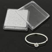 4 Claw Set Jeweled 925 Sterling Silver Nose and Ear Tragus Ring in Box