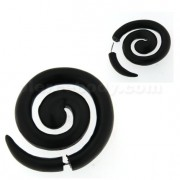 Organic Black Wood Spiral Fake Ear Expander