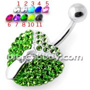 Dangling Zip Opened Heart Belly Ring