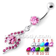 Fancy Jeweled Dangling Navel Banana PBM2084