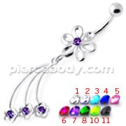 Jeweled waving flower Navel Belly Banana