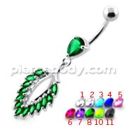 Fancy Jeweled cute belly button ring