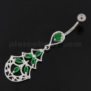 Three Steps Jeweled Chandelier Navel Belly Button Ring
