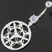 Fancy Dangling Multi jeweled Navel Belly Ring
