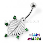 American Holly Leaf Belly Button Ring