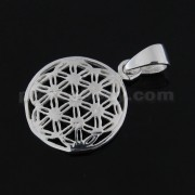 925 Sterling Silver Flower of Life Pendant