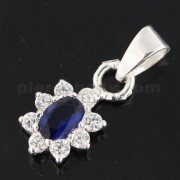 Fancy Jeweled 925 Sterling Silver Pendant