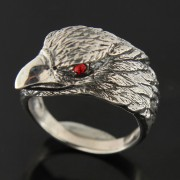 Jeweled Red Eye Eagle Finger Ring