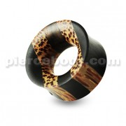 Organic Iron and Palm Wood Ear Gauges Plug
