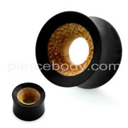 Organic Teak Wood Covered with Horn Ear Plug Gauges