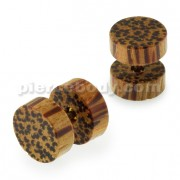 Organic Palm Wood Fake Ear Plug