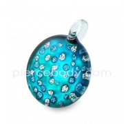 Glittering Pebble Glass Pendant