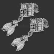 Clear Micro Setting Stone Brass Earring Stud