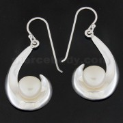 925 Sterling Silver Maui's Magical Hook with Pearl Ear Ring