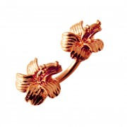 Hibiscus Flowers Spinal Belly Button Ring