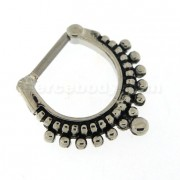 Tribal Pattern Dots Paved Nose Septum Clickers