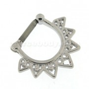 Celestial Filigree Nose Septum Clicker Piercing