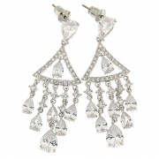 Fancy Chandelier Micro Setting Stone Earring