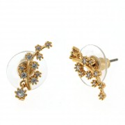 Fancy Long Leaf  Micro Setting Ear Stud